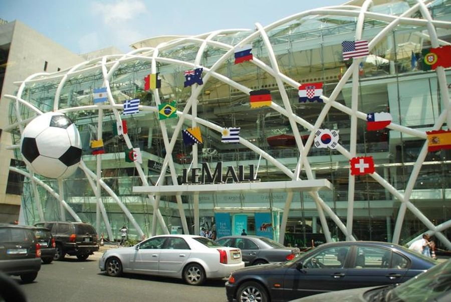 world cup mall by harley davidson biker
