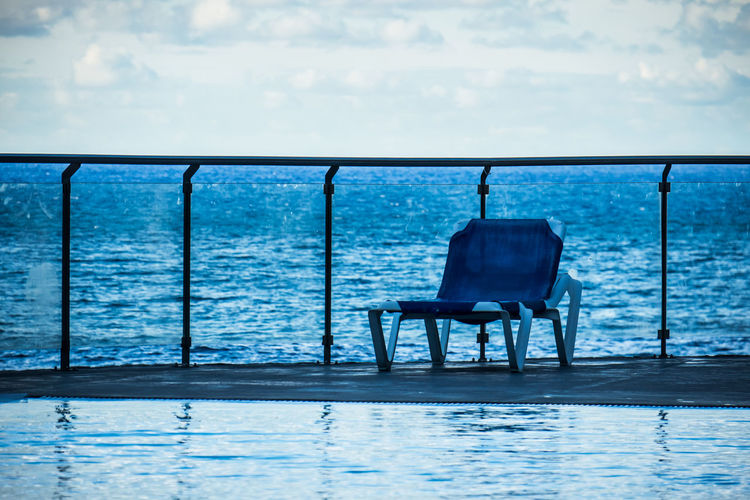 Absence Chair Deck Chair Empty Escapism Madeira Portugal Seat Summer Tropical Climate Vacations