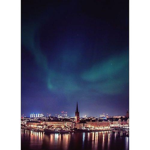 Northlight Stockholm Sweden Capital Night Light Environment Winter Scandinavia Water