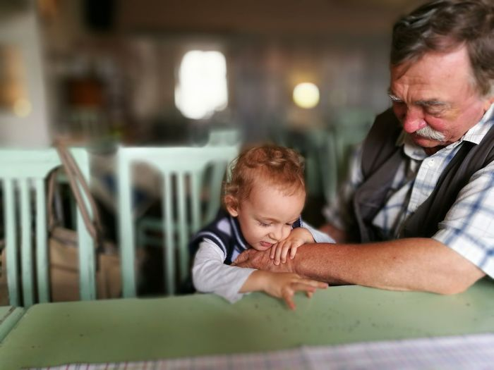 People Together First Eyeem Photo Restaurant Family Grandfather Grandson