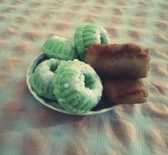 Indonesian snacks. My favorite Risoles Putu Ayu JajananIndonesia Yummy Steamed Cake
