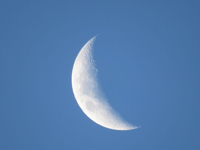 Close-up of moon against clear sky