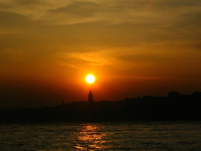 Sunset Cityscapes Water Sky Clouds And Sky Bosphorus Galatatower Istanbul Turkey The Great Outdoors - 2015 EyeEm Awards