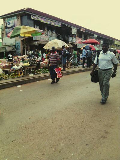 Collected Community Ghana Kumasi Central Market Urban Colors Walking Around