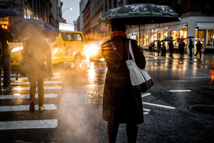 New York City and the rain Dark Gotham New York NYC Rain Rainy Days Street Streetphotography Weather