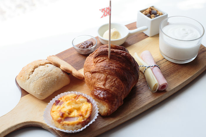 Breakfast Brunch Close-up Coffee - Drink Croissant Day Drink Food Food And Drink Freshness High Angle View Indoors  No People Plate Ready-to-eat Sweet Food Table