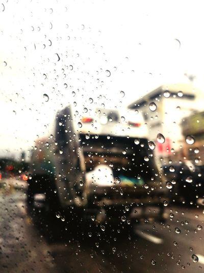 rain Drop Wet Rain Water Transparent Window Glass - Material Vehicle Interior Rainy Season Nature Transportation Indoors  Glass No People RainDrop City Car Mode Of Transportation Street
