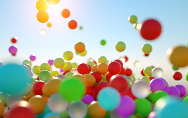 Colors Backgrounds Balloon Blue Bouncing Bouncing Ball Celebration Childhood Close-up Colorful colour of life Day Defocused Gardenparty Large Group Of Objects Multi Colored No People Outdoors Red Sky Sweets