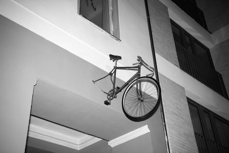 Ride or Die Black And White Night Building Bicycle Lines Broken Bike Abstract Art is Everywhere Concrete Kreuzberg Flashlight Snapshot Linas Was Here A New Perspective On Life