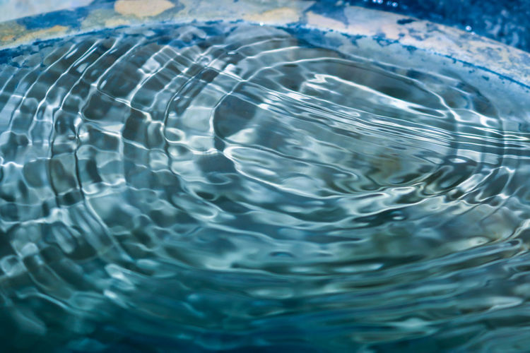 Close-up of rippled water in swimming pool