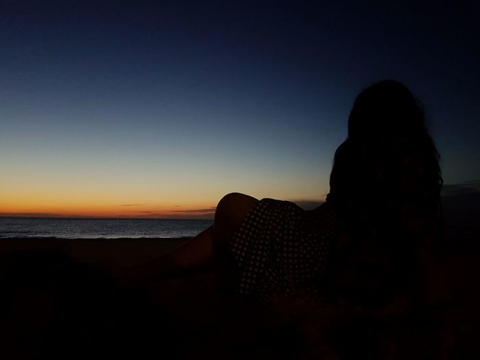 Selftime Sunset Silhouette Sand Nature Scenics Sea Beauty In Nature Sky Beach Outdoors Horizon Over Water Only Women Been There. Traveling Melbourne Eyemmarket Travel EyeEm Best Shots WeekOnEyeEm EyeEmSelect EyeEm Selects