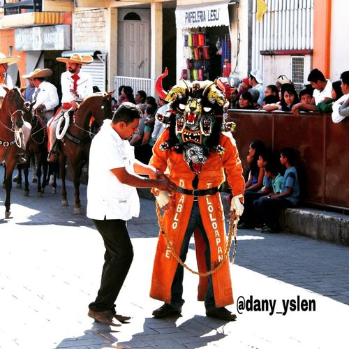 diablos de Teloloapan Guerrero Mexico Horses Colors Diablos City Politics And Government Politics Law Ceremony Tradition Full Length Traditional Ceremony