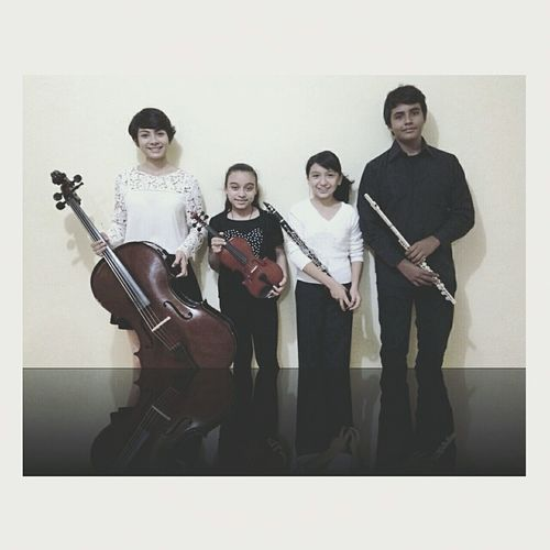 "Cuarteto ""Allegro"" Music Cello Violin Clarinet Flautas First Eyeem Photo"