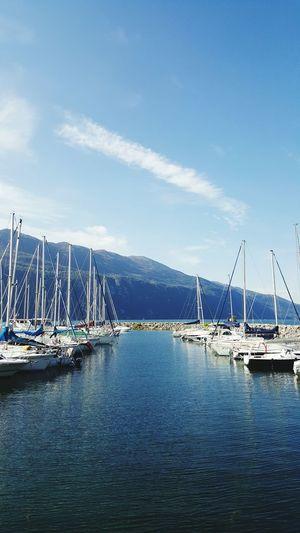 Beautiful place. ⛵. Savoie Lac Du Bourget Port Bateaux Boats Aix Les Bains Détente !