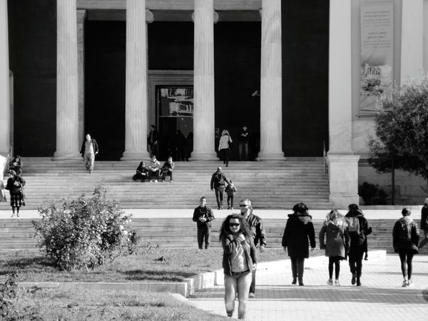 Athens, Greece Athens Archaeological Museum Blackandwhite Black And White