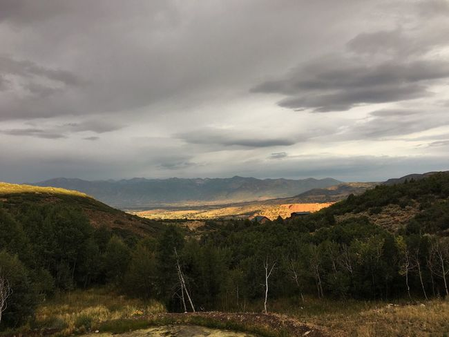 this morning's view on the way out. rain & clouds last night, clearing up. Wasatch County Utah Mountain View