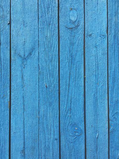 Full frame shot of blue wooden planks