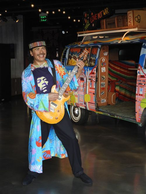 Santana WAX SANTANA Adult Arts Culture And Entertainment Celebration Cultures Lifestyles Looking At Camera Performance Smiling Standing Wax Figure Wax Figures California Dreamin The Traveler - 2018 EyeEm Awards Summer Road Tripping