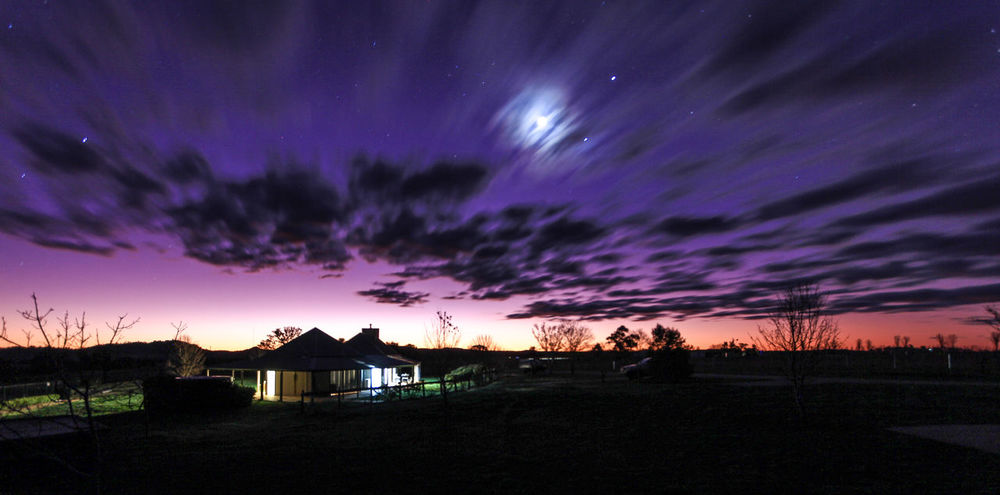 Night sky over shearers quarters Architecture Astronomy Beach Beauty In Nature Building Exterior Built Structure Cloud - Sky Dramatic Sky Galaxy Landscape Nature Night No People Outdoors Scenics Silhouette Sky Star - Space Star Field Star Trail Starry Sunset Tranquil Scene Tranquility Tree