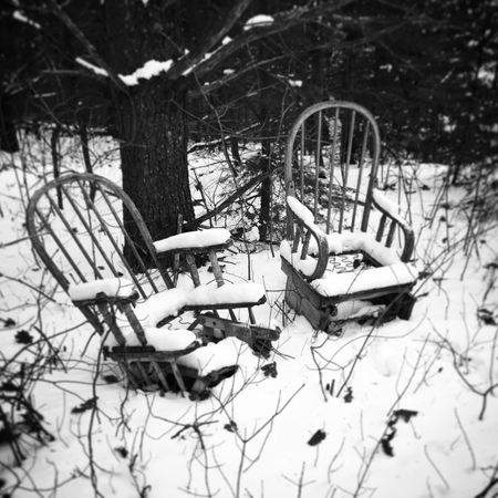 Take a seat... Bare Tree No People Day Outdoors Tree Nature Photography Picoftheday Travel Canada Outdoor Photography Snow Abandoned Forest Seat TakeASeat Discovery Nice Beauty In Nature Beautiful Peaceful