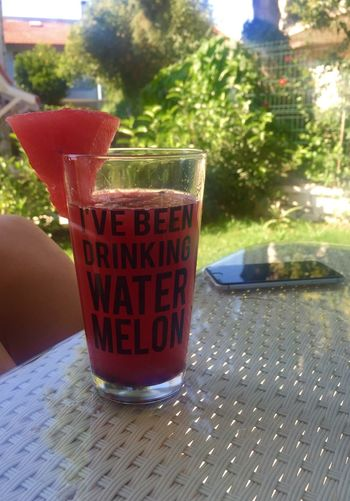 Table Drinking Glass Drink Healthy Eating Food And Drink ShareTheMeal Nature Watermelon Freshness Outdoors Beyonce Close-up