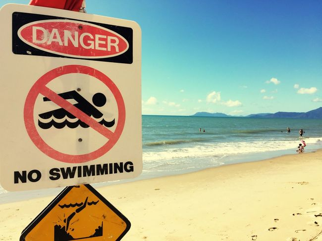 Swimming In The Distance Beach Beachphotography Yorkey's Knob Cairns Cairns Tourism Check This Out Taking Photos Enjoying Life Cairns Beach