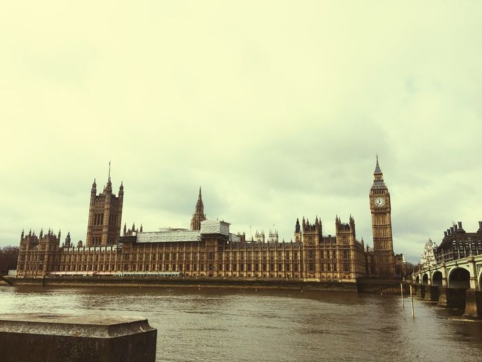 Architecture Building Exterior Built Structure Travel City Sky Water Travel Destinations River Tower Clock Tower No People Waterfront Outdoors Cultures Cityscape Day Big Ben EyeEmBestPics IPhoneography EyeEm Best Shots