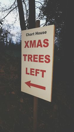 Text Communication Tree No People Warning Sign Outdoors Close-up Day Xmas Trees Sign