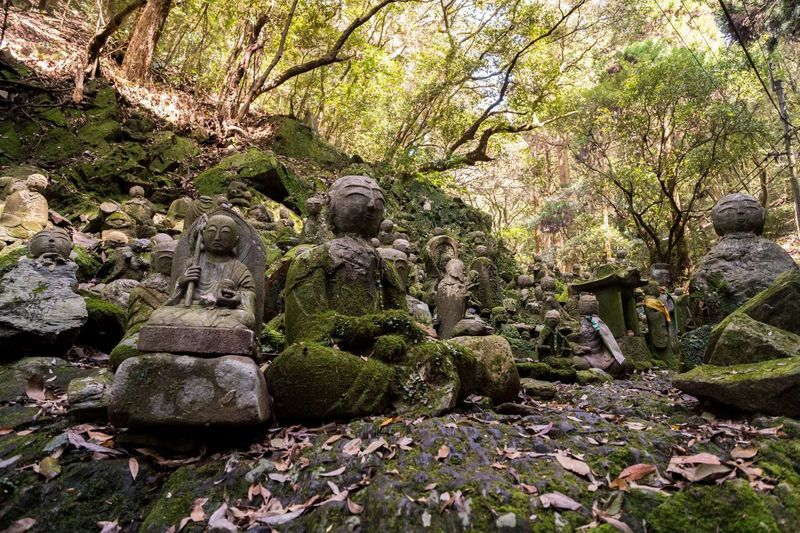 Rock - Object Nature Tree Forest No People Outdoors Day Beauty In Nature Statue Scenics Japan Photography Green Color Japan Tree Leaf Temple Landscape Jizo Shrine Stone