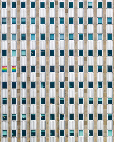 Windows Pattern Repetition Built Structure Offices Outdoors Architecture Building Exterior Windows Rainbow Rainbowflag Chicago, Illinois EyeEmNewHere The Week On EyeEm The Graphic City Love Is Love