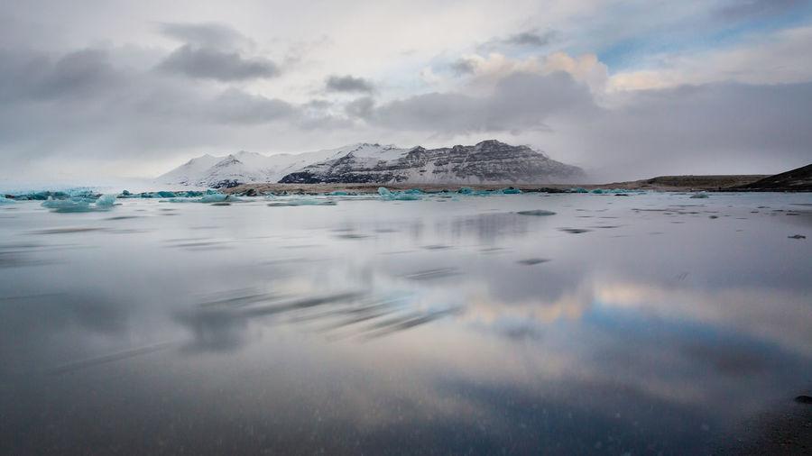 Jokulsarlon lagoon landscape, iceland