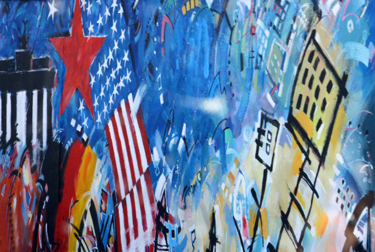 A Taste Of Berlin Berlin Photography Backgrounds Berlin Wall Graffiti Close-up Day Full Frame Indoors  Multi Colored No People Stars And Stripes Graffiti Text #FREIHEITBERLIN #urbanana: The Urban Playground HUAWEI Photo Award: After Dark