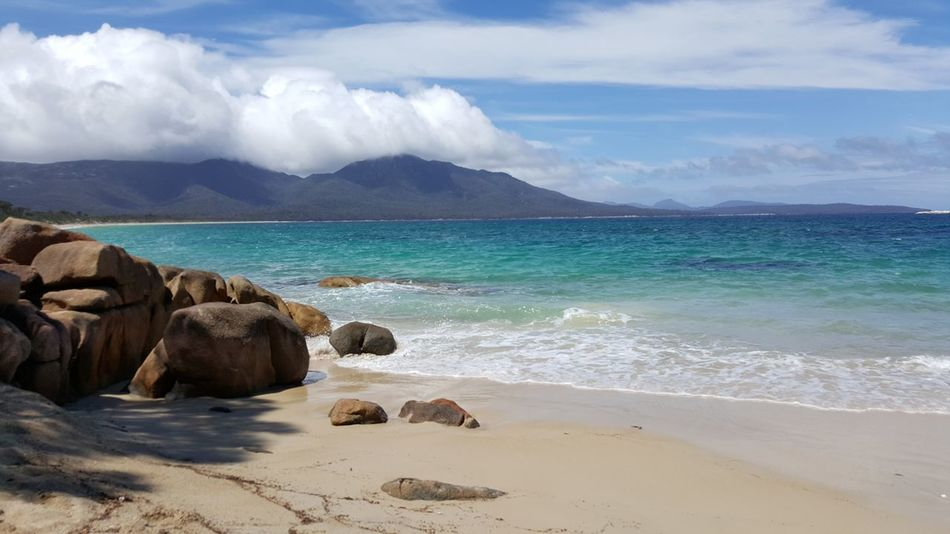 Sea Beach Water Beauty In Nature No People Sand Outdoors Scenics Day Wave Nature Tasmania TasmaniaAustralia Hiking Beutiful Day Beautiful Beuty Of Nature Blue Wave Blue Clouds Picturesque Scenic Landscape Sand & Sea Sandy Beach