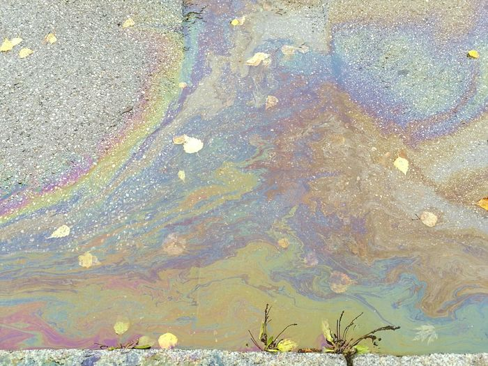Iridescent oil spill Outdoors Close-up Multi Colored Urban Landscape Autumn No People Abstract Textured  Day First Eyeem Photo