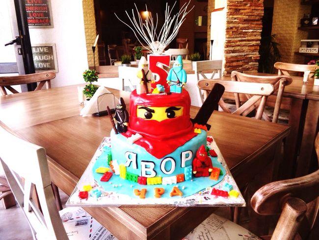 Birthday Cake Cake Bithday Birthday Cake Birthday Party Interior Design Interior Ninjago Children's Birthday Five Years Old