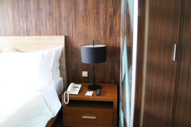 Bed Wake Up Wakeup Waking Up Bedroom Morning Sunshine Sunlight Pillow Lamp Bed Lamp Bed Light Hotel Room Wood Wood Texture Texture Sheet Bed Sheet Interior Views My Favorite Photo