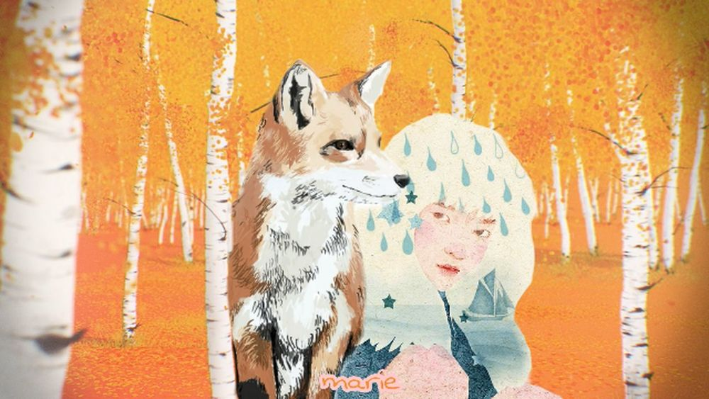 Fox Foresty Girl Artpic Illustration