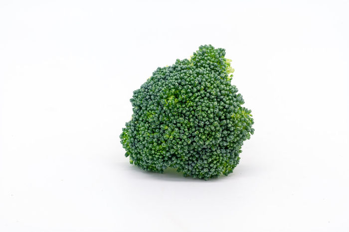 Broccoli Broccoli Close-up Copy Space Cruciferous Food Food And Drink Freshness Fruit And Vegetable Green Color Healthy Eating Isolated No People Studio Shot Suitable For Adding Text Vegetable White Background