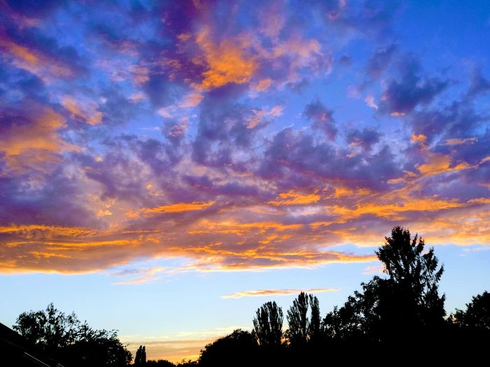 Beauty In Nature Cloud - Sky Nature Orange Color Outdoors Scenics - Nature Sky Sunset Tranquility