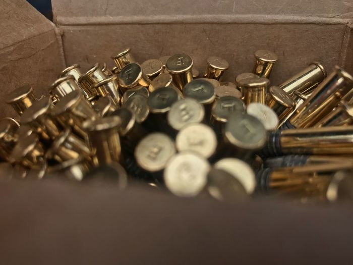 Selective Focus Still Life Indoors  Metal Large Group Of Objects Close-up No People Gold Colored Abundance Ammunition Bullet Day