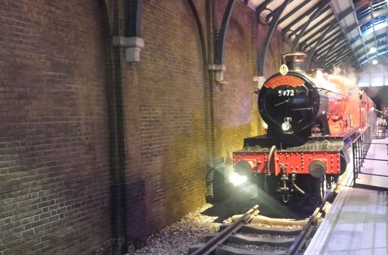 """Here is a Photo shot of the Hogwart Express which is located at London's Warner Studios Attraction """"The Making of Harry Potter"""". This photo was taken in January 2016 in Leavesden - Watford - London - United Kingdom. 2016 Architecture Building Exterior Built Structure Day England, UK Great Britain Harry Potter Harry Potter Studios Harry Potter ⚡ Harry Potter ❤ Locomotive London Mode Of Transport No People Outdoors Public Transportation Rail Transportation Railways Red And Black Steam Train Steam Trains Train - Vehicle Transportation United Kingdom"""