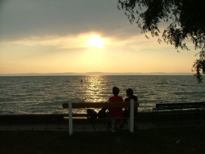 Balatonvilágos Calm Gleam Gleaming Gleaming Light Horizon Over Water Hullámok Naplemente Shilhouette Sunset Sunset Silhouettes Sziluett Waves Landscapes With WhiteWall