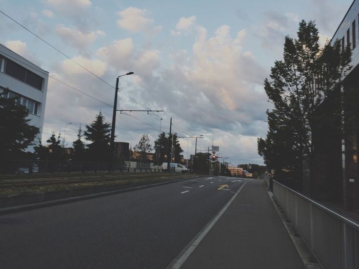 Road Sky Cloud