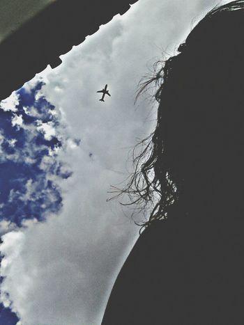 Taking Photos Aeroplane In The Sky dando uma de fotografa