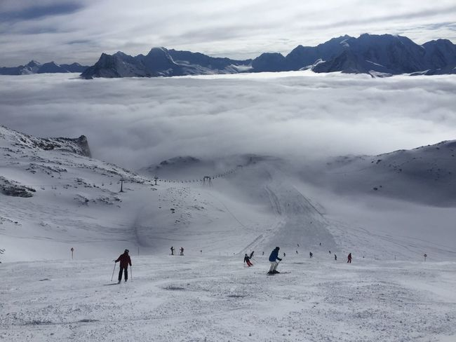 Austrian Alps Adventure Beauty In Nature Cloud - Sky Cold Temperature Idyllic Landscape Leisure Activity Mountain Mountain Range Nature Outdoors Real People Scenics Ski Holiday Skiing Sky Snow Snowcapped Mountain Tranquil Scene Tranquility Vacations Weather Winter Zillertal
