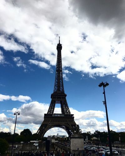 Tour Eiffel Paris Tower Cloud - Sky Architecture Sky Built Structure Travel Destinations Low Angle View Travel Tourism Outdoors No People Day City Tall Sightseeing Trip