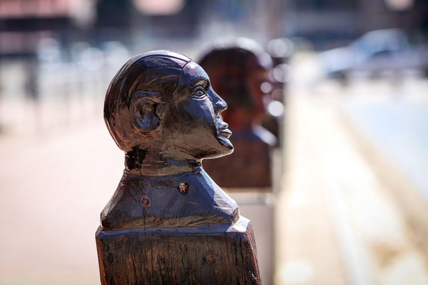 African street art African Art African Crafts Johannesburg South Africa Art And Craft Bust  City Craft Creativity Human Representation Male Likeness No People Outdoors Sculpture Sculpture In The City Sculptures Statue Street Art Streetphotography Wood Sculpture