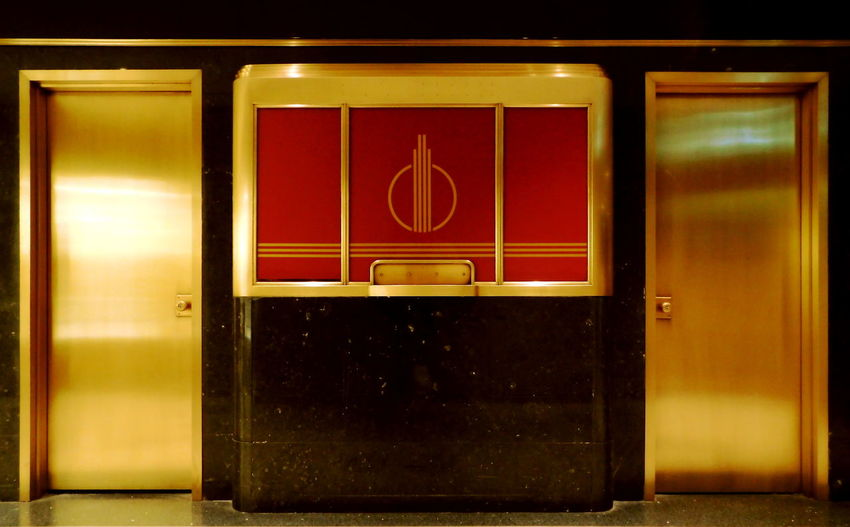 Rockefeller Center Art Deco Art Deco Architecture Artdeco Closed Door Entrance Golden Indoors  New York City Newyorkcity Noplacetohide Rockefeller Center What's In There? The Architect - 2016 EyeEm Awards The Photojournalist - 2016 EyeEm Awards Cities At Night Finding New Frontiers Colour Your Horizn
