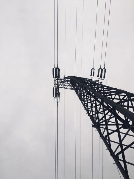 Sky Low Angle View Technology Connection No People Nature Architecture Built Structure Day Metal Tall - High