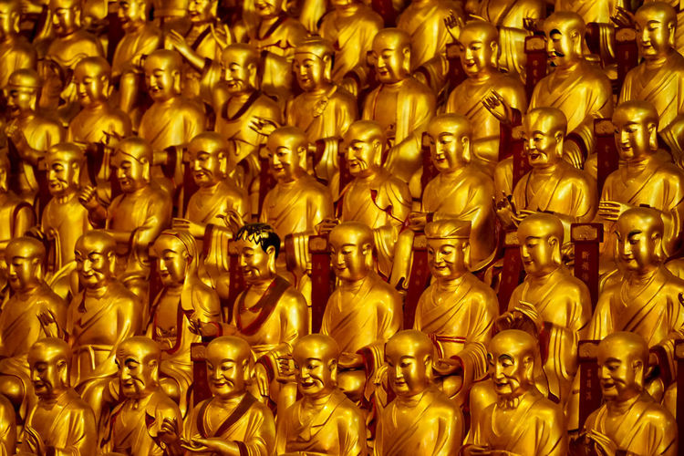 Full frame shot of buddha statues